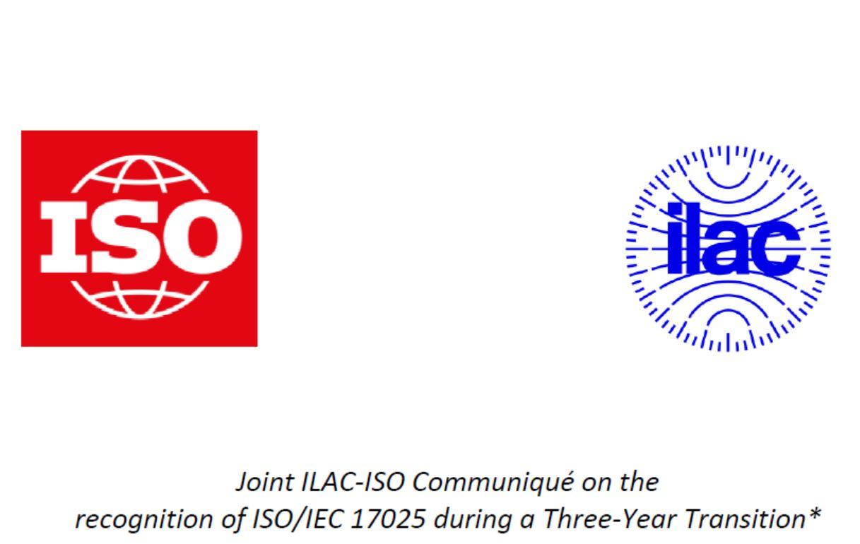 15-6-2020:  Επέκταση της μεταβατικής περιόδου του ISO/IEC 17025:2017 μέχρι την 1η Ιουνίου 2021