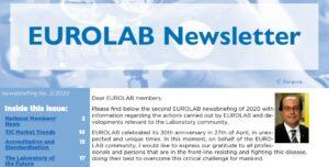 EUROLAB Newsletter No 02/2020 & Message from the EUROLAB Secretariat