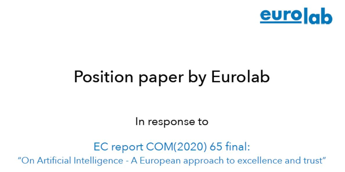 Position paper  of Eurolab on A.I.